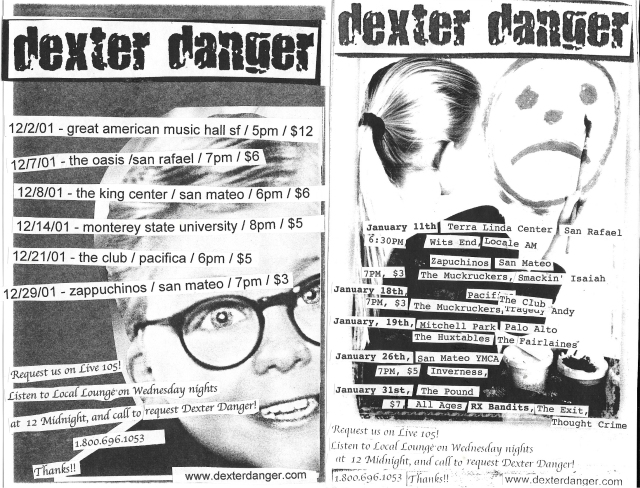 Dexter Danger - 12-1 to 1-21 2001-2002